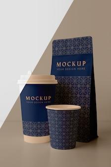 Composition de la maquette de tasse de café