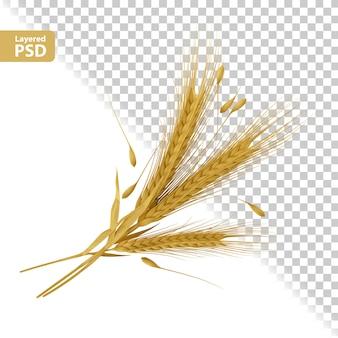 Composition d'oreilles jaunes avec pose de graines