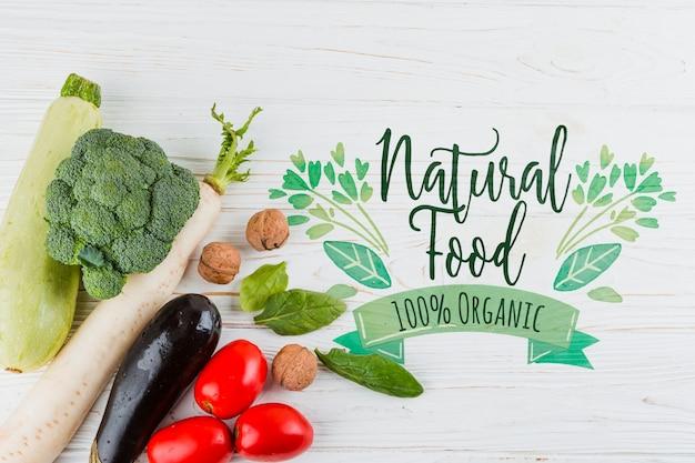 Composition à plat de légumes