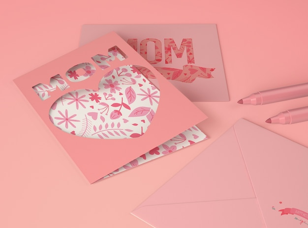 Composition pour le créateur de scène de la fête des mères avec carte