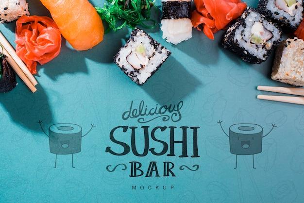 Composition pour maquette de bar à sushi