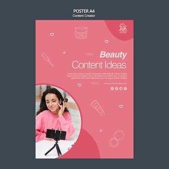 Concept d'affiche de créateur de contenu