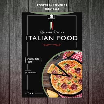 Concept d'affiche de cuisine italienne