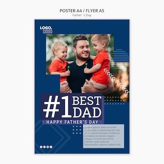 Concept d'affiche de la fête des pères heureux