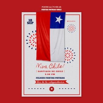 Concept d'affiche de la journée internationale du chili