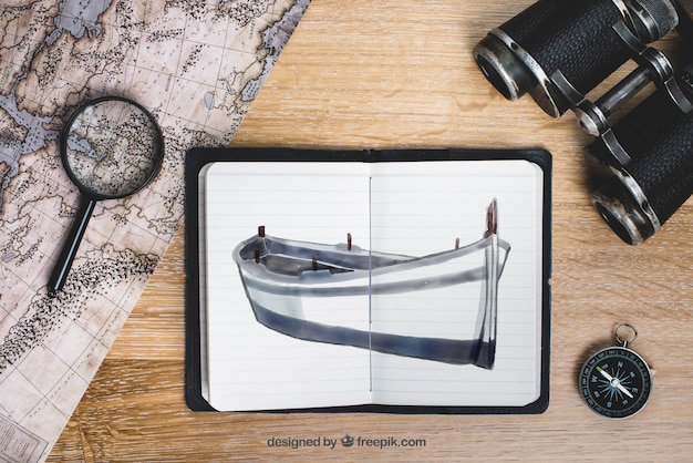 Concept d'aventure et d'exploration