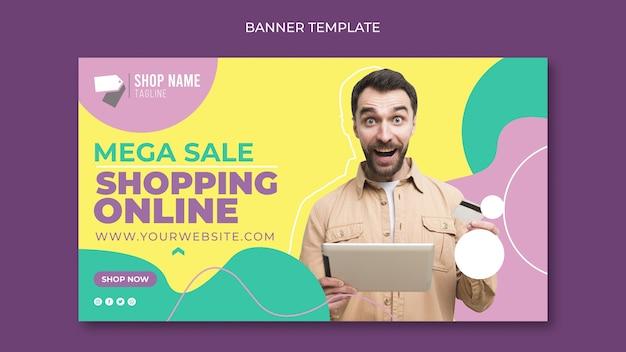 Concept de bannière de magasinage en ligne