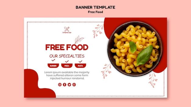 Concept de bannière de nourriture gratuite