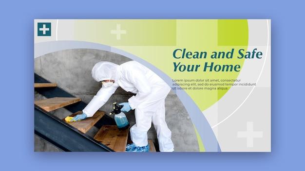 Concept de bannière propre et sûr