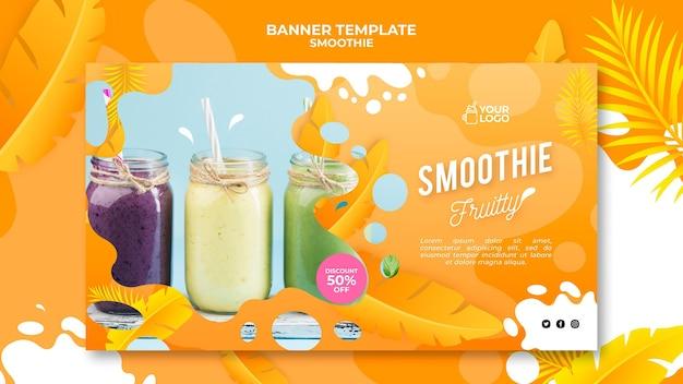 Concept de bannière de smoothie