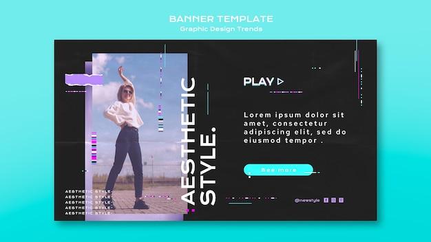 Concept de bannière de tendances design graphique