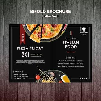 Concept de brochure de cuisine italienne