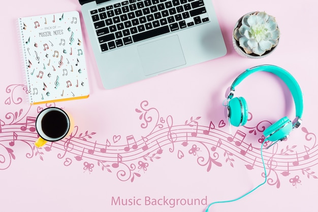 Concept de bureau d'artiste musicien