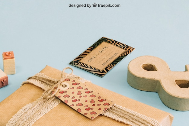 Concept de carton de papeterie