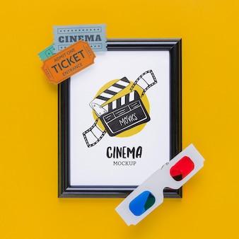 Concept de cinéma avec billets