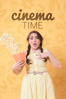 Concept de cinéma de printemps pastel