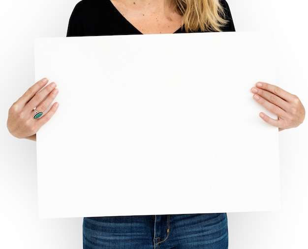 Concept de communication blank placard copyspace
