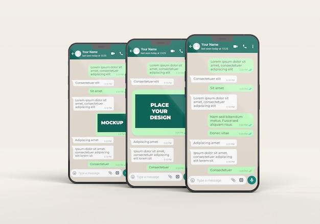 Concept de communication avec les smartphones