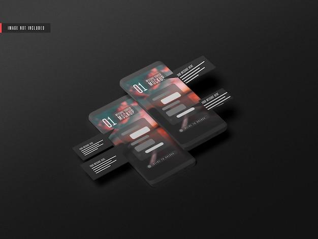 Concept De Conversation De Messagerie Sur La Maquette De Téléphone Mobile Psd gratuit