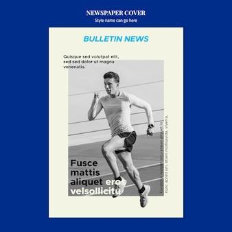 Concept de couverture de journal de sport