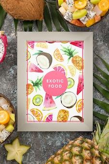 Concept de cuisine exotique avec cadre