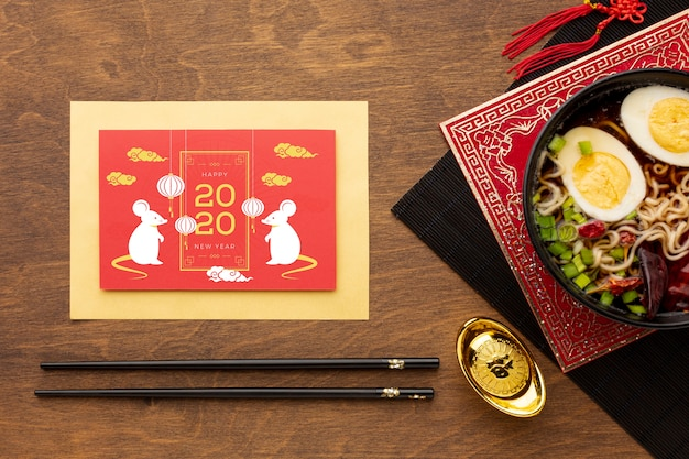Concept du nouvel an chinois avec maquette