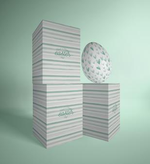 Concept d'emballage de pâques à angle élevé