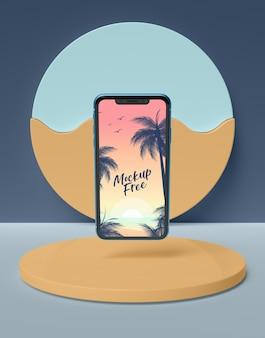Concept d'été avec téléphone