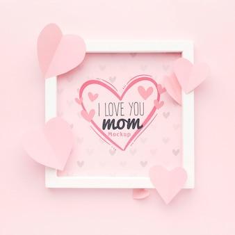 Concept de fête des mères vue de dessus