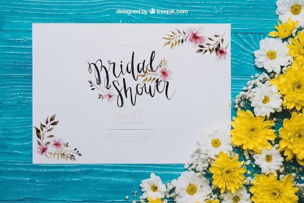 Concept floral de douche nuptiale