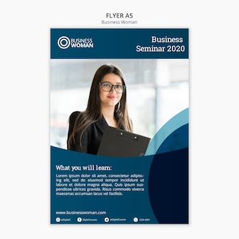 Concept de flyer pour business model
