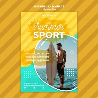 Concept de flyer de sport d'été