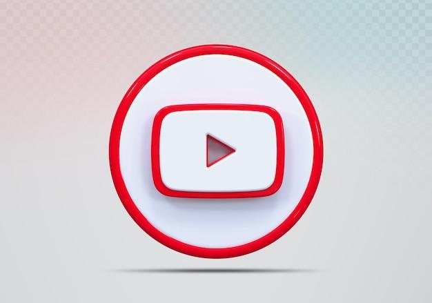 Concept icône rendu 3d youtube