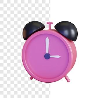 Concept d'illustration d'horloge 3d avec style brillant