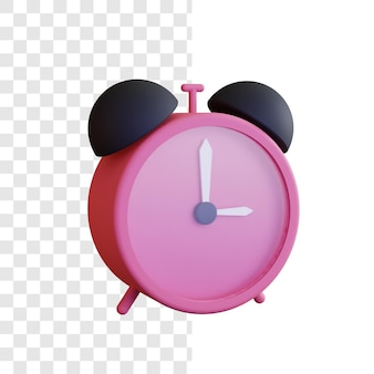 Concept d'illustration d'horloge 3d