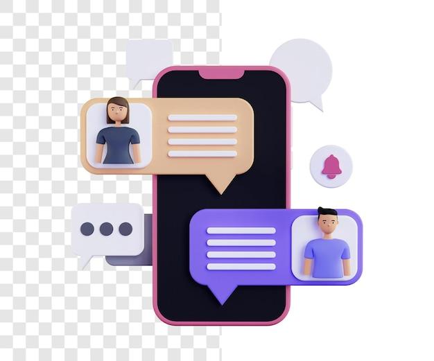Concept d'illustration de message 3d