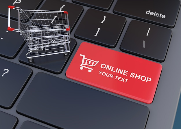 Concept de magasinage en ligne