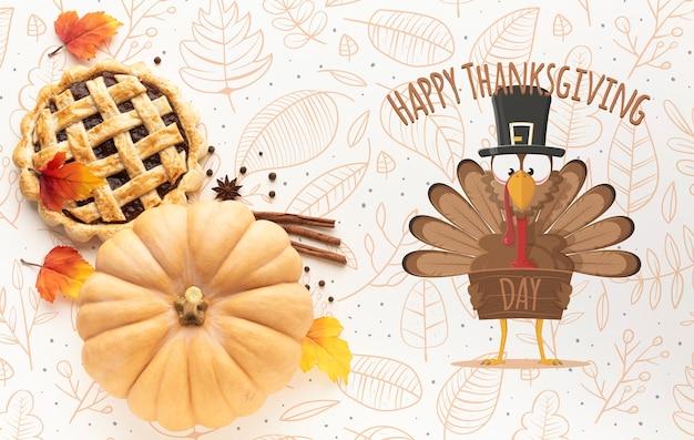 Concept de maquette du jour de thanksgiving