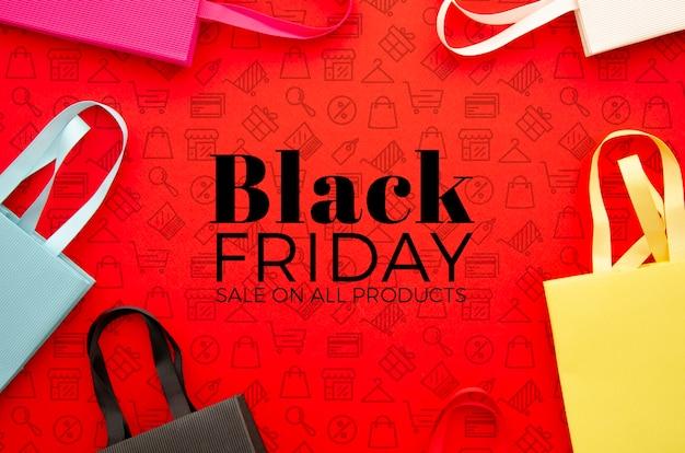 Concept de maquette de vendredi noir
