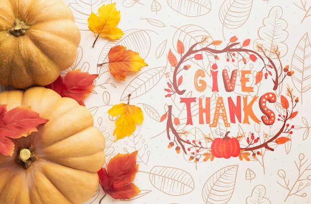 Concept de message pour le jour de thanksgiving