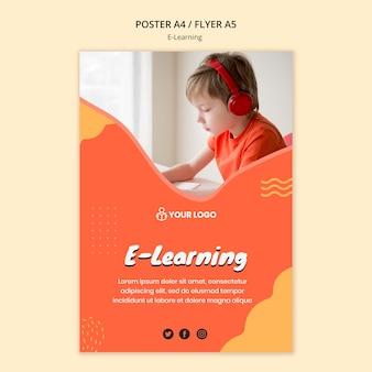 Concept de modèle d'affiche d'apprentissage e