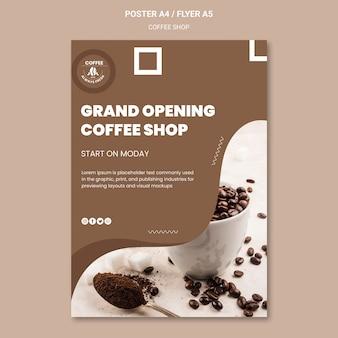 Concept de modèle d'affiche de café