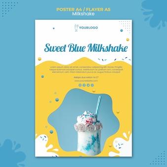 Concept de modèle d'affiche milkshake