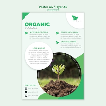 Concept de modèle d'affiche organique