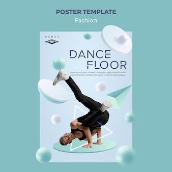 Concept de modèle d'affiche de piste de danse