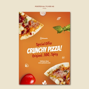Concept de modèle d'affiche de pizza