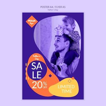 Concept de modèle d'affiche de vente de fête des pères