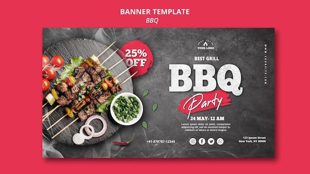 Concept de modèle de bannière de barbecue