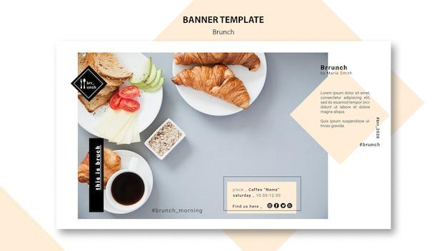 Concept de modèle de bannière de brunch savoureux