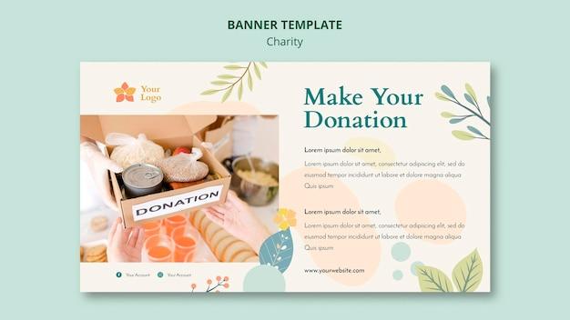Concept de modèle de bannière de charité